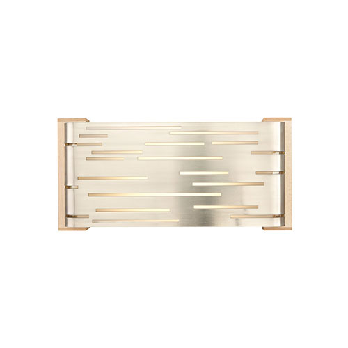 Tech Lighting Revel Satin Nickel LED Wall Sconce with Maple Glass