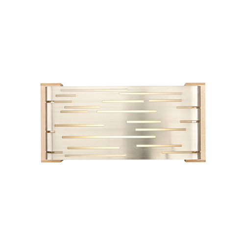 Revel Satin Nickel One-Light Fluorescent Wall Sconce with Maple Wood Trim