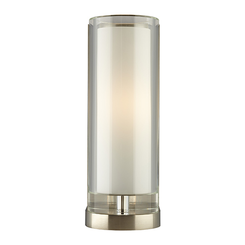 Sara Satin Nickel One-Light Wall Sconce with Clear Glass