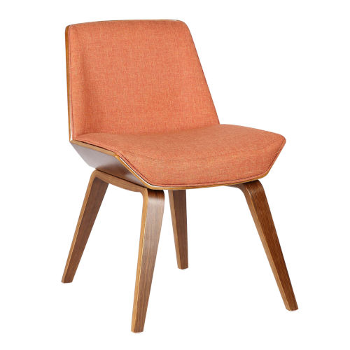 Agi Orange with Walnut Dining Chair