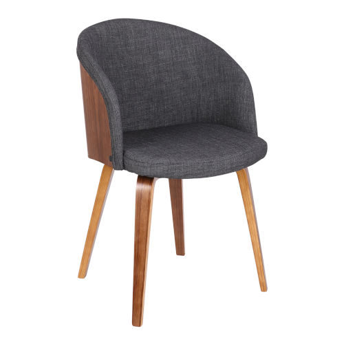 Alpine Charcoal with Walnut Dining Chair