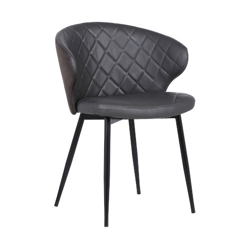 Ava Gray with Black Powder Coat Dining Chair