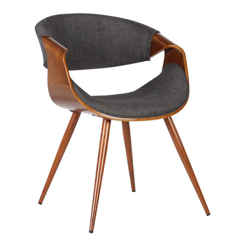 Butterfly Charcoal with Walnut Dining Chair