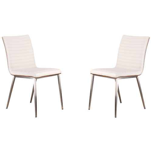 Café White Dining Chair, Set of Two