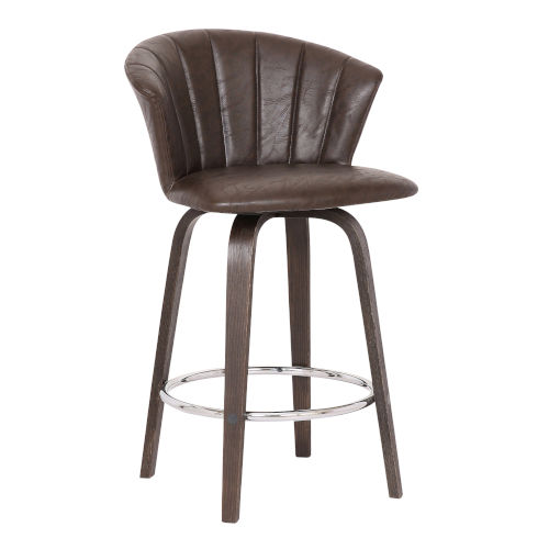 Connie Brown and Chrome 26-Inch Counter Stool