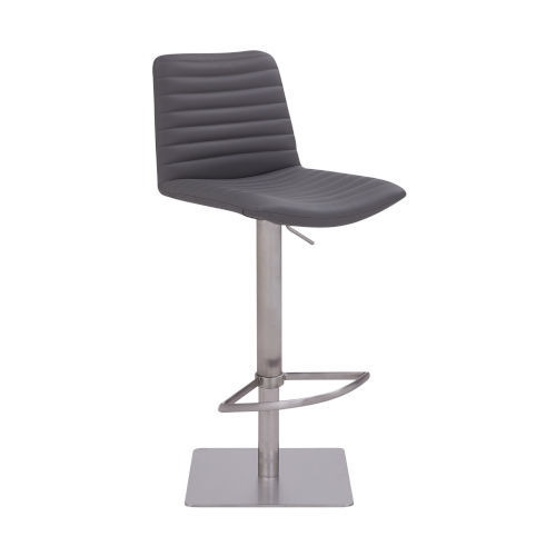 Carson Gray and Stainless Steel 31-Inch Bar Stool