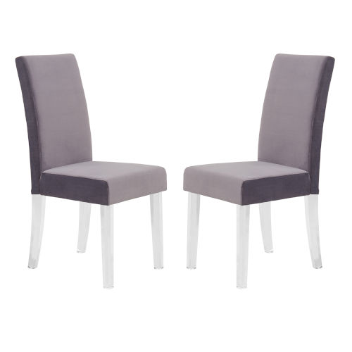 Dalia Gray Dining Chair, Set of Two