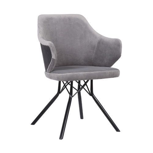 Darcie Gray with Black Powder Coat Dining Chair