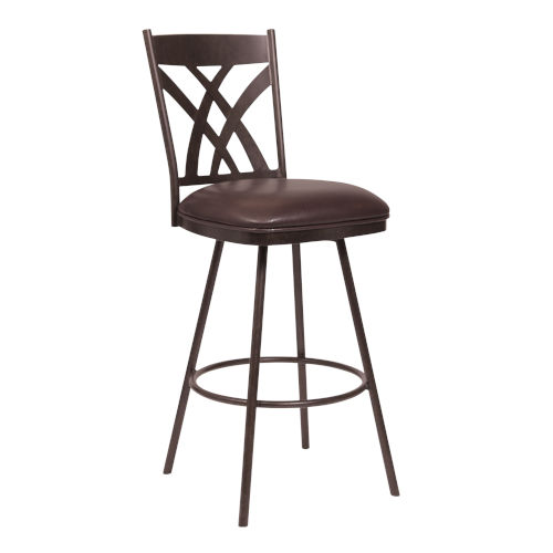 Dover Brown and Auburn Bay 30-Inch Bar Stool