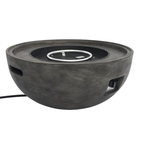 Castaic Gray Outdoor Patio Fire Pit with Concrete Texture
