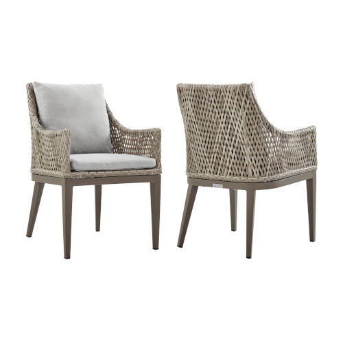 Grenada Gray Outdoor Dining Chair, Set of Two