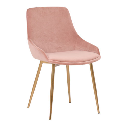 Heidi Blue with Gold Dining Chair