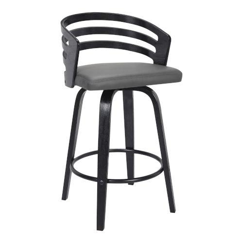 Jayden Black and Gray 30-Inch Bar Stool