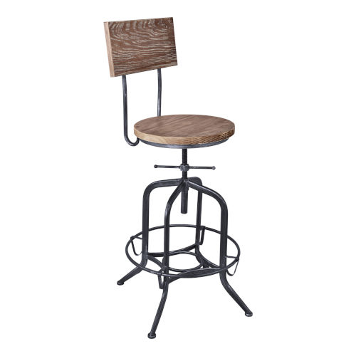 Magnus Industrial Gray 30-Inch Bar Stool
