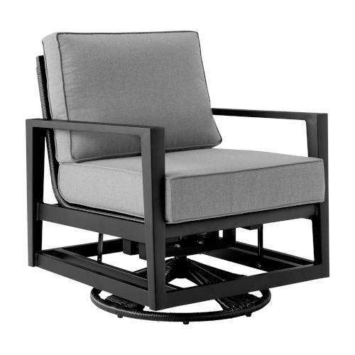 Cayman Black Outdoor Swivel Chair