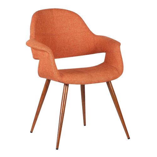 Phoebe Orange with Walnut Dining Chair