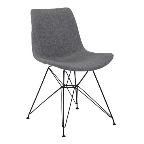 Palmetto Charcoal with Black Dining Chair