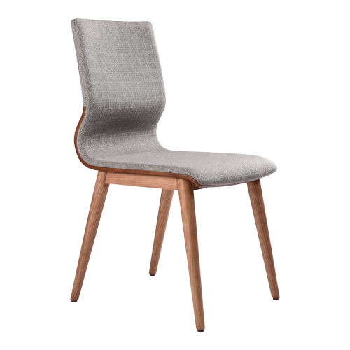 Robin Gray with Walnut Dining Chair, Set of Two