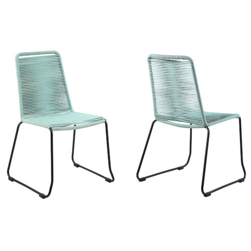 Shasta Black Wasabi Outdoor Dining Chair, Set of Two