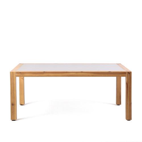 Sienna Teak Stone Outdoor Coffee Table