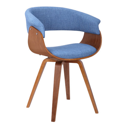 Summer Blue with Walnut Dining Chair