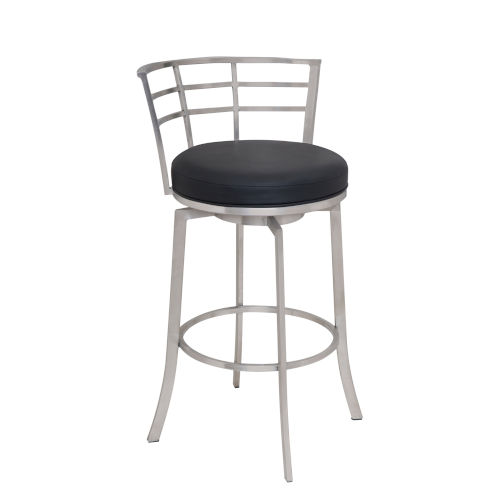Viper Black and Stainless Steel 30-Inch Bar Stool