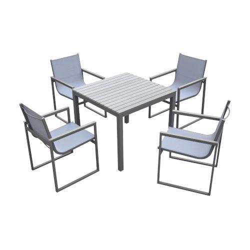 Bistro Gray Outdoor Dining Set