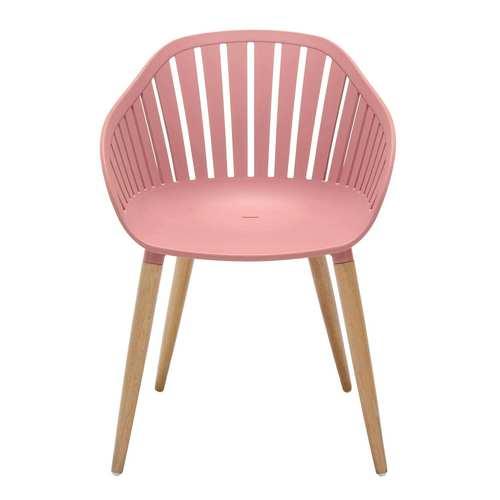Nassau Pink Peony Five-Piece Outdoor Dining Set