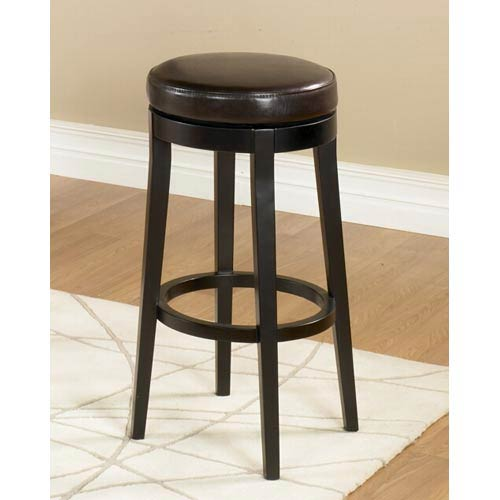 Armen Living Brown 26 Inch Backless Swivel Barstool