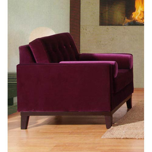 Armen Living Centennial Purple Velvet Chair Lc7251pu