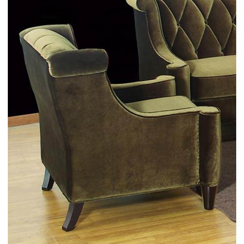 Armen Living Barrister Green Velvet Chair 764LC8441GREEN_1