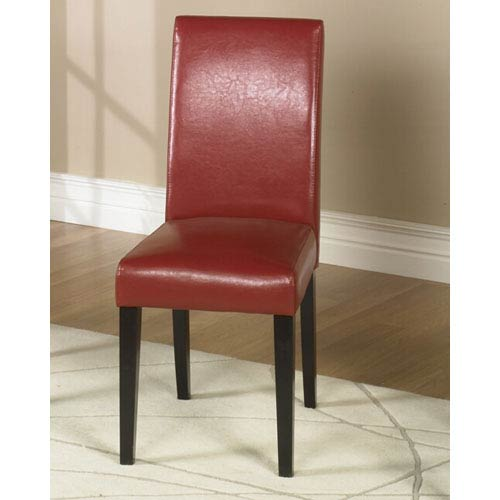 red leather dining chairs italian leather armen living red leather side chair set of two dining chairs bellacor