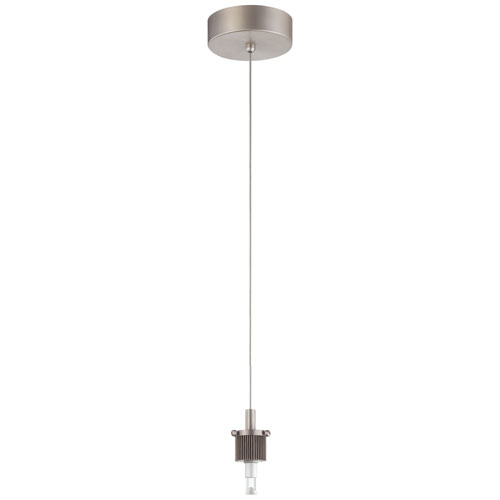 A la Carte Satin Nickel LED Mini Pendant Holder Only