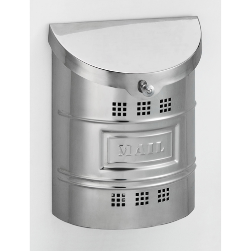 Fuoriserie Polished Stainless Steel Large Mailbox with Steel Label
