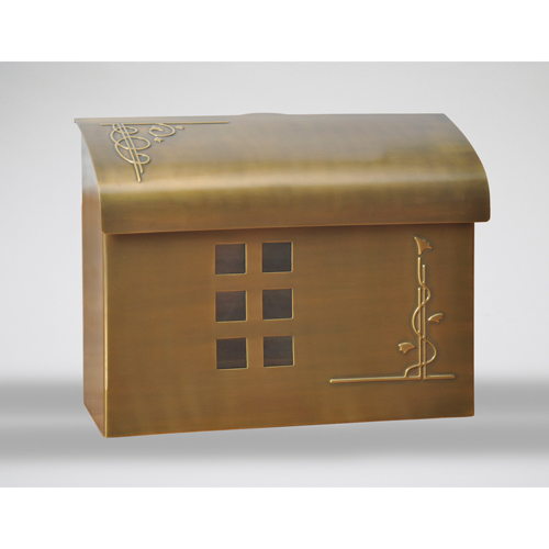 Satin Brass Mailbox