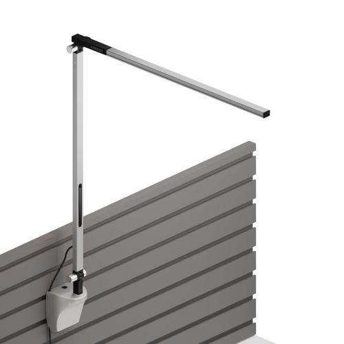 Z-Bar Silver LED Solo Desk Lamp with Slatwall Mount