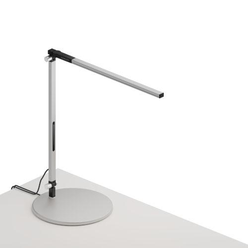 Z-Bar Silver LED Solo Mini Desk Lamp with Usb Base