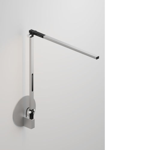 Z-Bar Silver Warm Light LED Solo Mini Desk Lamp with Hardwire Wall Mount