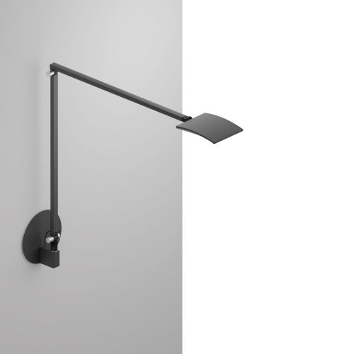 Mosso Metallic Black LED Pro Desk Lamp with Hardwired Wall Mount