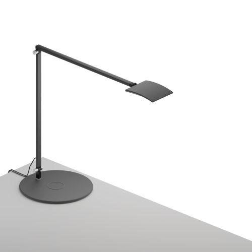 Mosso Metallic Black LED Pro Desk Lamp with Wireless Charging Qi Base