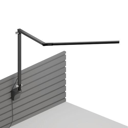 Z-Bar Metallic Black LED Desk Lamp with Slatwall Mount