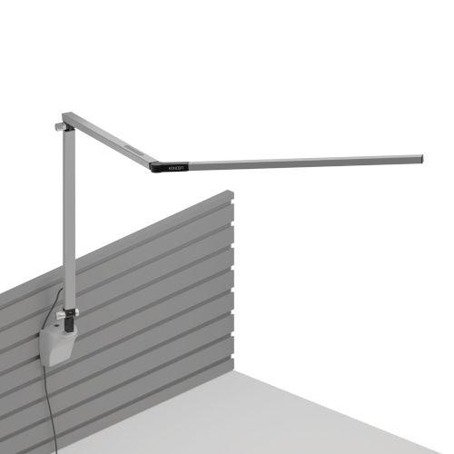 Z-Bar Silver LED Desk Lamp with Slatwall Mount