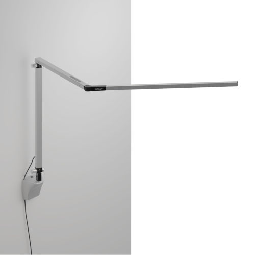 Z-Bar Silver Warm Light LED Desk Lamp with Wall Mount