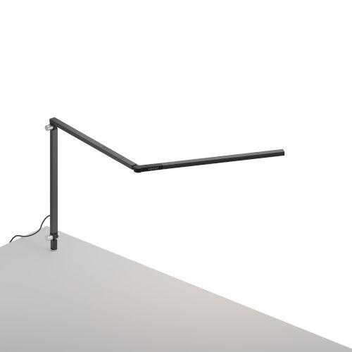 Z-Bar Metallic Black LED Mini Desk Lamp with  Through-Table Mount