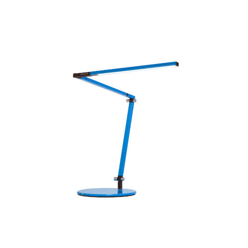 Z-Bar Blue LED Desk Lamp with Two-Piece Desk Clamp