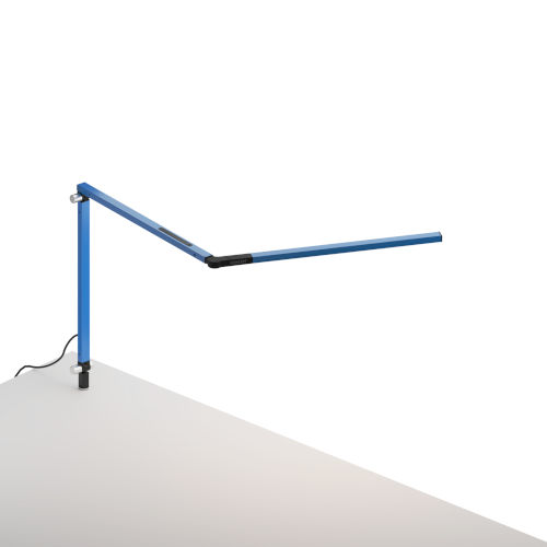 Z-Bar Blue LED Desk Lamp with Through Table Mount