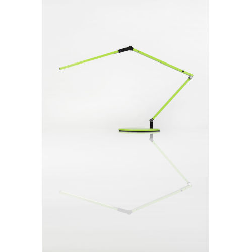 Z-Bar Green LED Desk Lamp with Two-Piece Desk Clamp