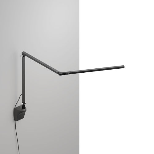 Z-Bar Metallic Black LED Mini Desk Lamp with Metallic Black Wall Mount