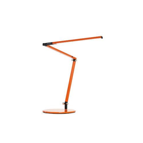Z-Bar Orange LED Desk Lamp with Two-Piece Desk Clamp