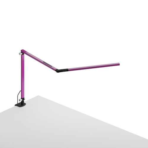 Z-Bar Purple LED Desk Lamp with One-Piece Desk Clamp